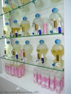 Productos de baño con el mismo perfume