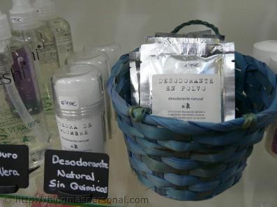 Desodorante natural y polvos para el sudor de los pies